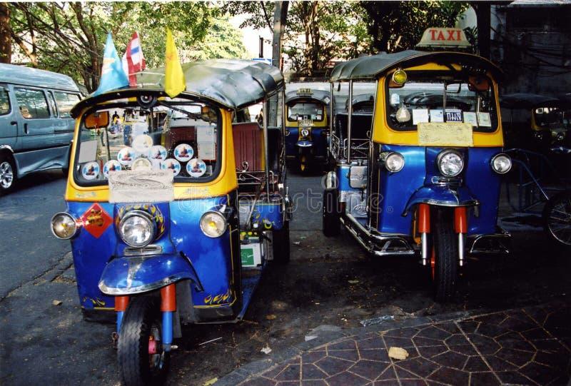 Bangkok Tuk Tuks royalty-vrije stock afbeeldingen