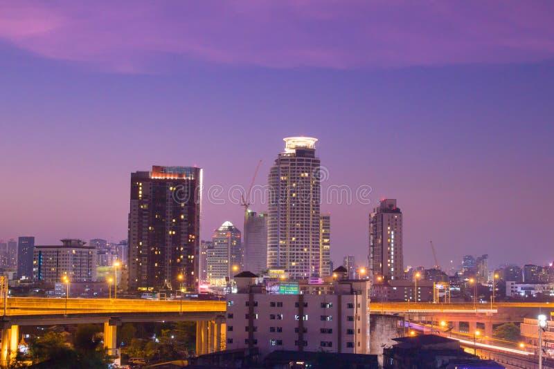 Bangkok twilight scene royalty free stock image