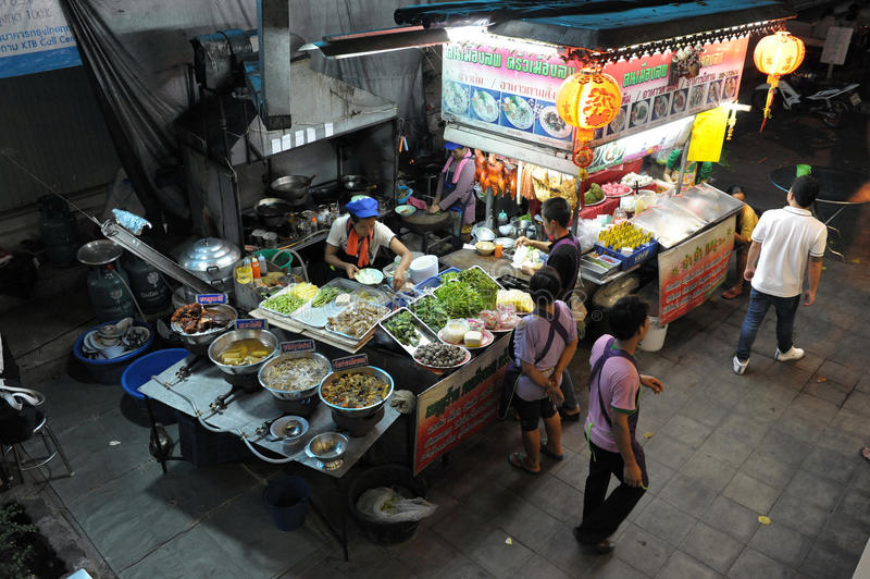 bangkok ulica kuchenna restauracyjna boczna obraz royalty free