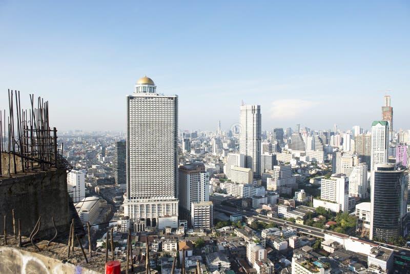 Bangkok ville 5 avril : Ville de vue supérieure le 5 avril 2015 à Bangkok photographie stock