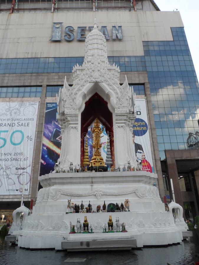 Bangkok vollzieht seine Wurzeln zu einer kleinen Handelsstation während des Ayutthaya-Königreiches im 15. Jahrhundert nach, das s stockfoto
