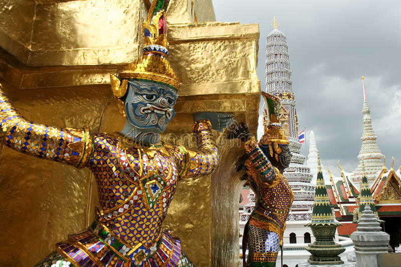 Bangkoks großartiger Palast lizenzfreies stockbild