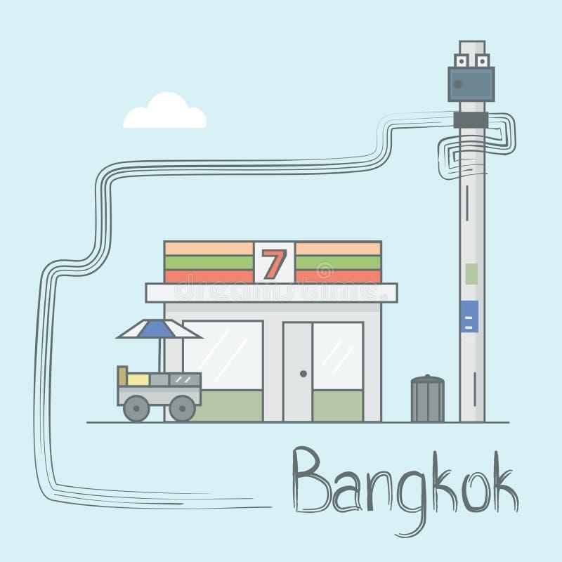 BangkokStreet иллюстрация вектора