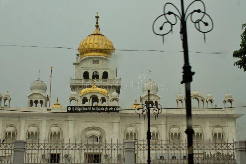 Bangladaheb Gurudwara, Delhi, Indien lizenzfreie stockbilder