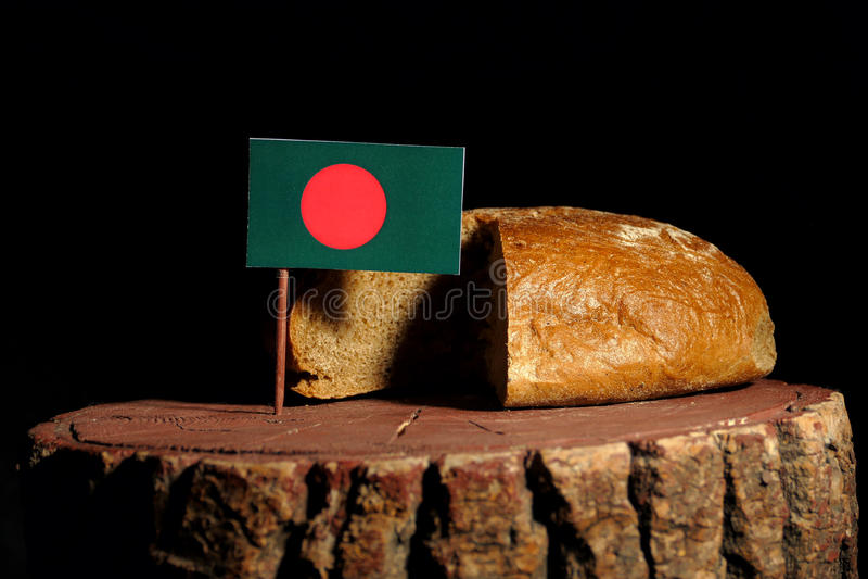 Download Bangladesch-Flagge Auf Einem Stumpf Mit Brot Stockbild - Bild von organisch, leben: 96933609