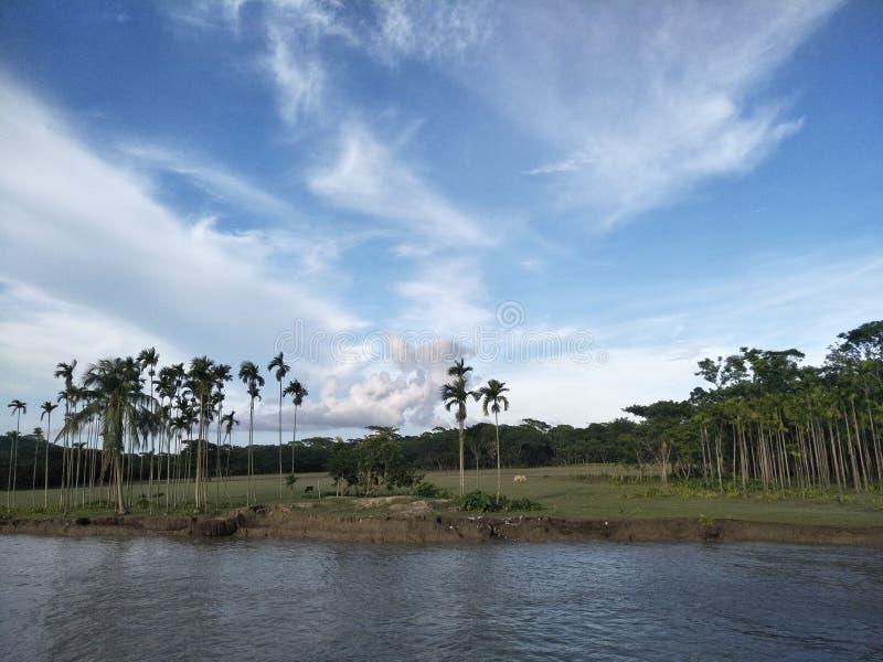 River side. Bangladesh, beautiful, river, side, patuakhali royalty free stock images