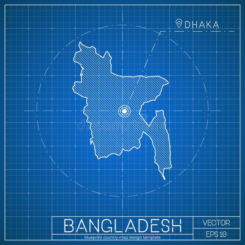 Bangladesh blueprint map template with capital stock vector download bangladesh blueprint map template with capital stock vector illustration of arrow architecture malvernweather Choice Image