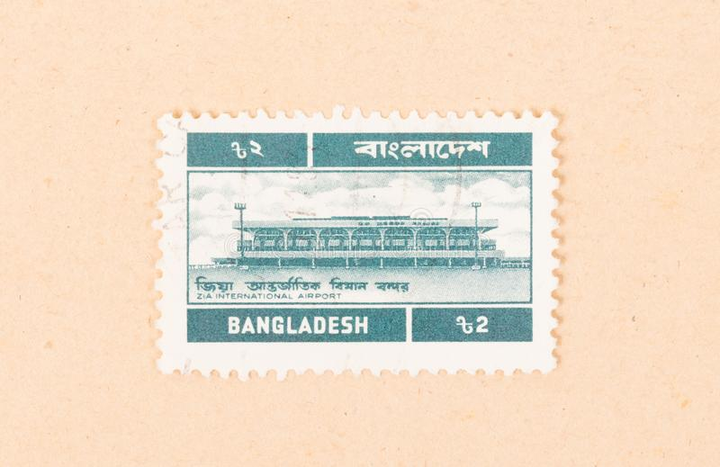 A stamp printed in Bangladesh shows Zia International Airport, circa 1960. BANGLADESH - CIRCA 1960: A stamp printed in Bangladesh shows Zia International Airport stock image