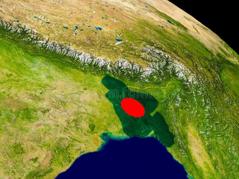 Bangladesh con la bandera en la tierra stock de ilustración