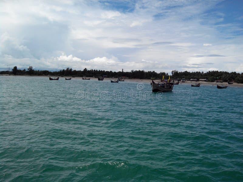 Bangladesh Cox& x27; playa del St Maarten Island del Bazar de s foto de archivo libre de regalías