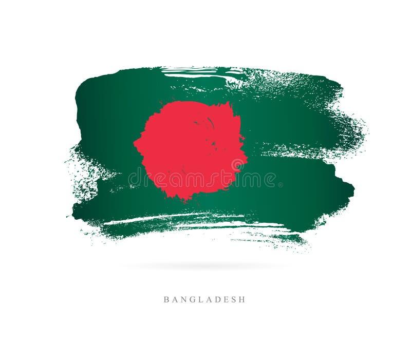 bangladesh flagę Abstrakcjonistyczny pojęcie ilustracja wektor
