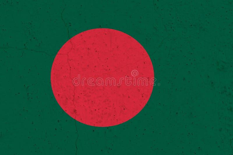 Bangladesh flag on concrete wall royalty free stock photo