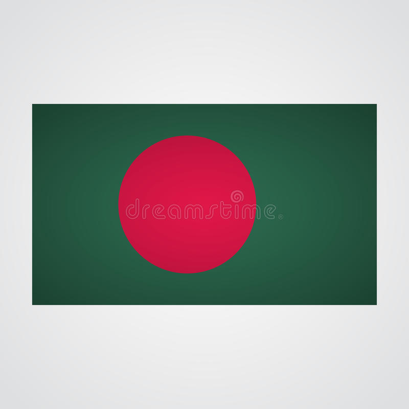 Bangladesh flag on a gray background. Vector illustration royalty free illustration