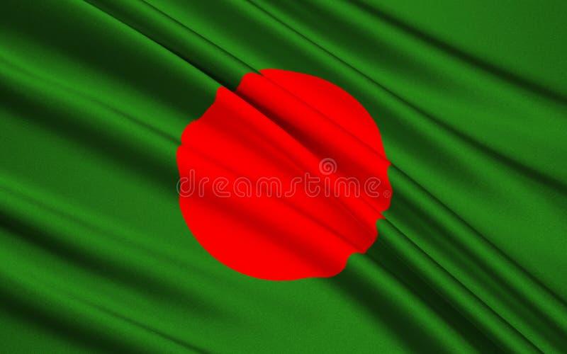 bangladesh flagga arkivfoto