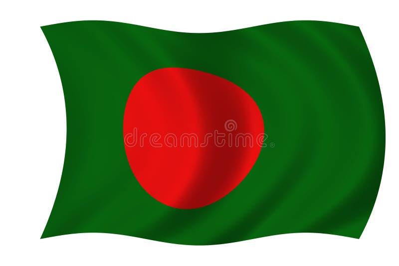 bangladesh flagga royaltyfri illustrationer
