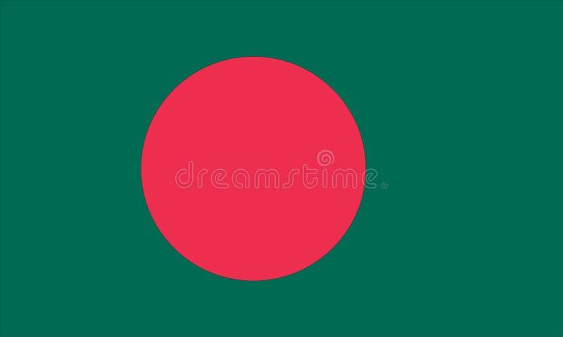 bangladesh flagga vektor illustrationer