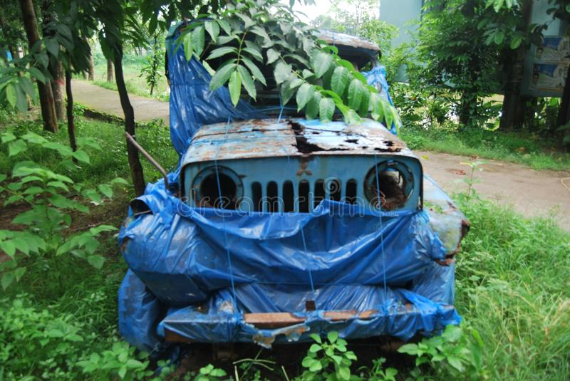 Old car of bangladesh.View of the dhaka. Bangladesh has a few large car plants which assemble passenger cars from Mitsubishi and Proton, as well as commercial royalty free stock images