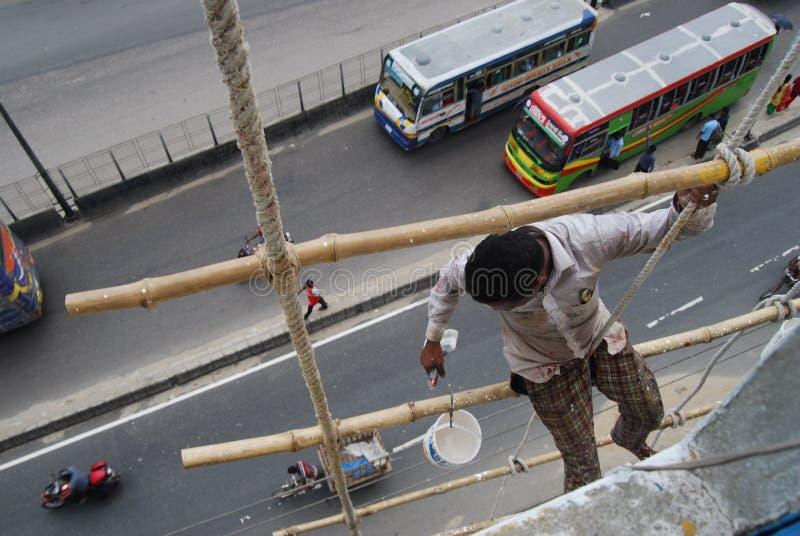 Worker of dhaka bangladesh. royalty free stock photography
