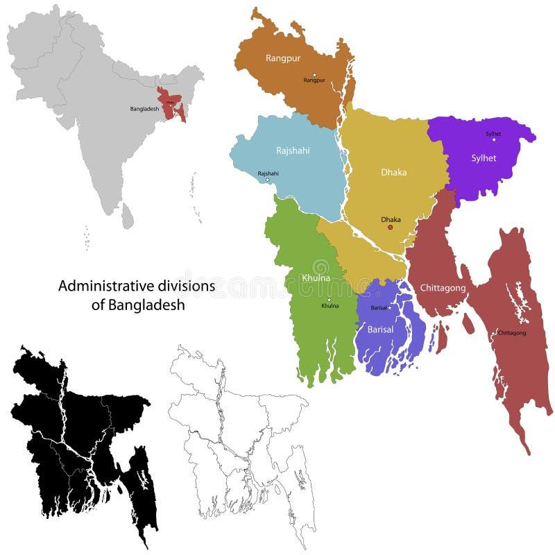 Bangladesh Map Stock Vector Illustration Of Detail Asia - Bangladesh map