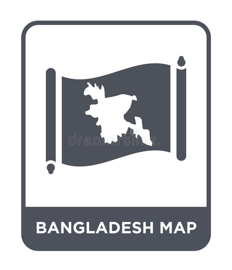 Bangladesh map icon in trendy design style. bangladesh map icon isolated on white background. bangladesh map vector icon simple. And modern flat symbol for web vector illustration