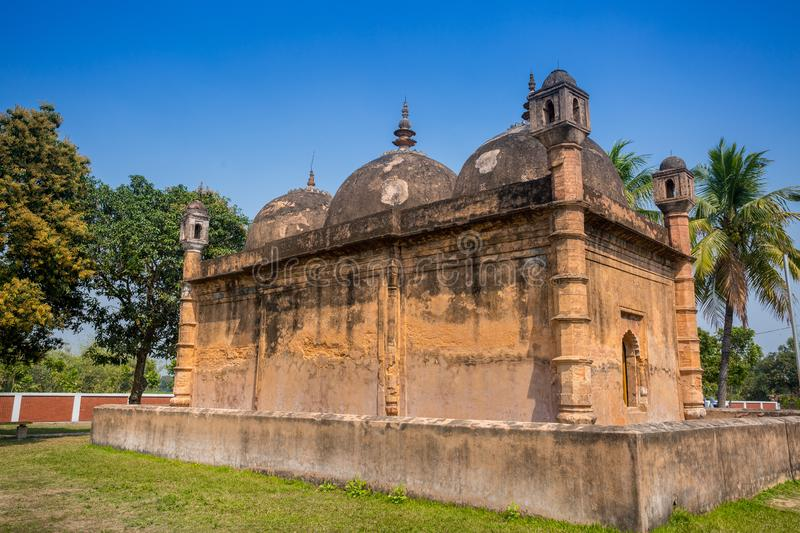 Bangladesh – March 2, 2019: Nayabad Mosque Back Side views, is located in Nayabad village in Kaharole Upazila of Dinajpur stock images