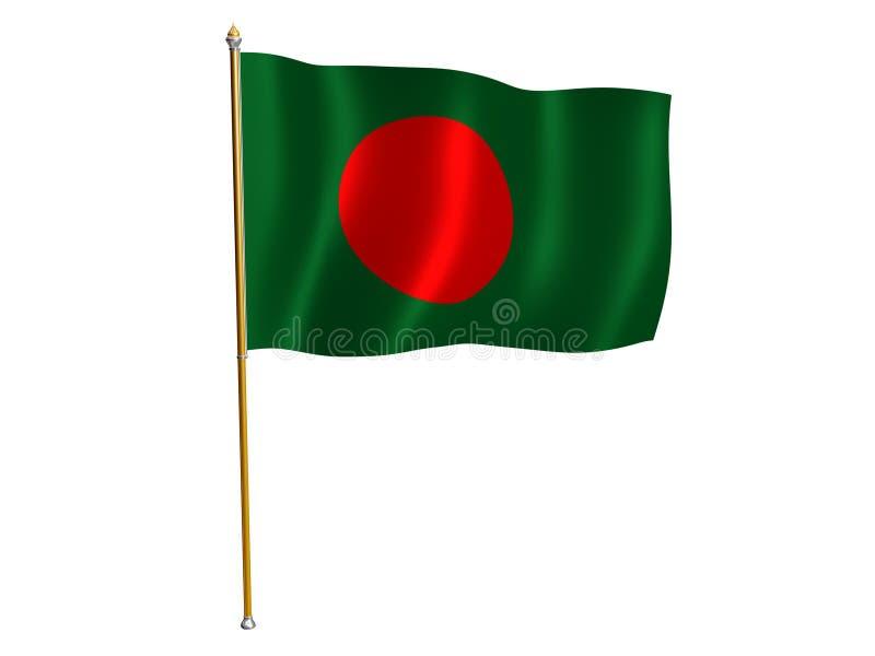 Bangladesh silk flag. Silk flag of Bangladesh royalty free illustration