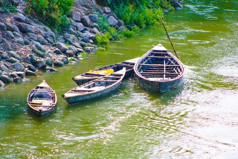 Bangladeshi Small Boat on River royalty free stock photography