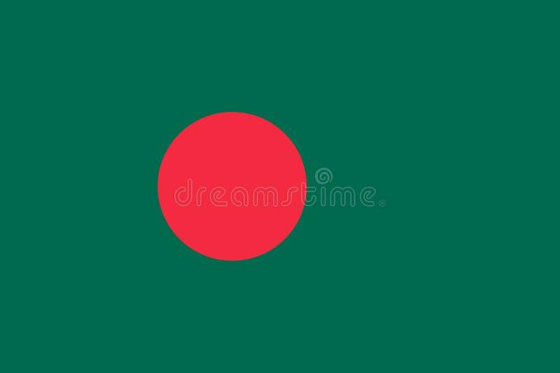 Bangladesz flagi oryginał i prosty ilustracji