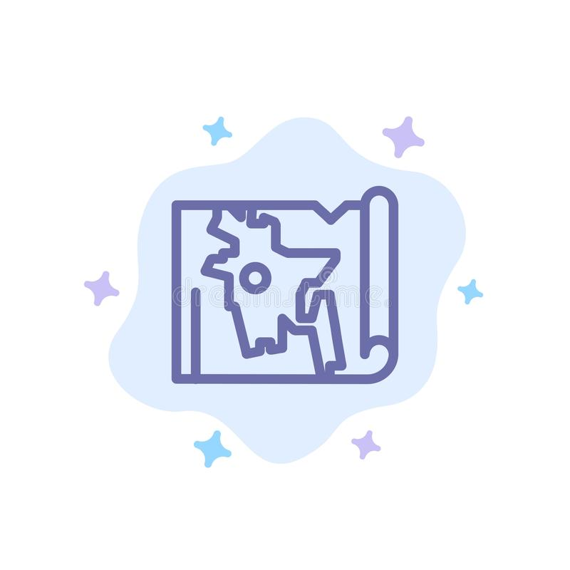 Bangladesz, mapa, świat, Bangla Błękitna ikona na abstrakt chmury tle ilustracji