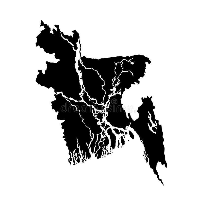 Bangladesz mapa royalty ilustracja