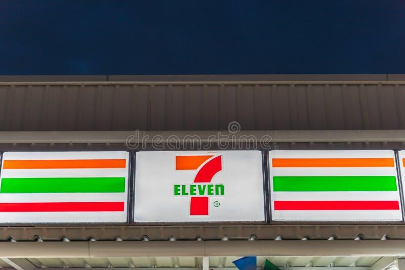 Banglamung, Chonburi /Thailand - 22 avril 2018 : Boutique 7 onze images stock
