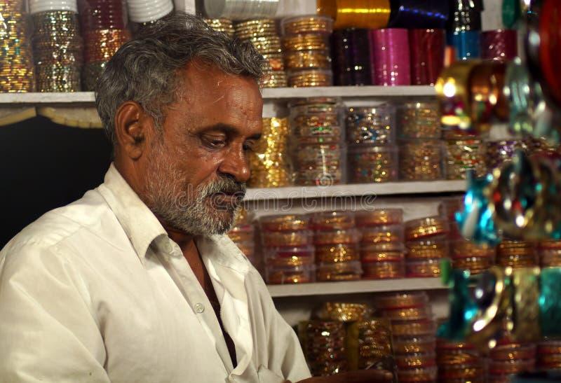 The Bangle seller stock photos