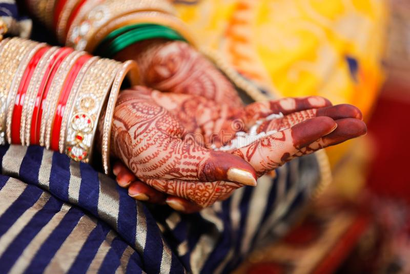 Bangles bride hand royalty free stock photo