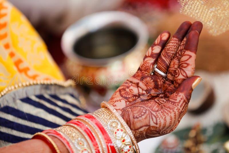 Bangles bride hand royalty free stock image