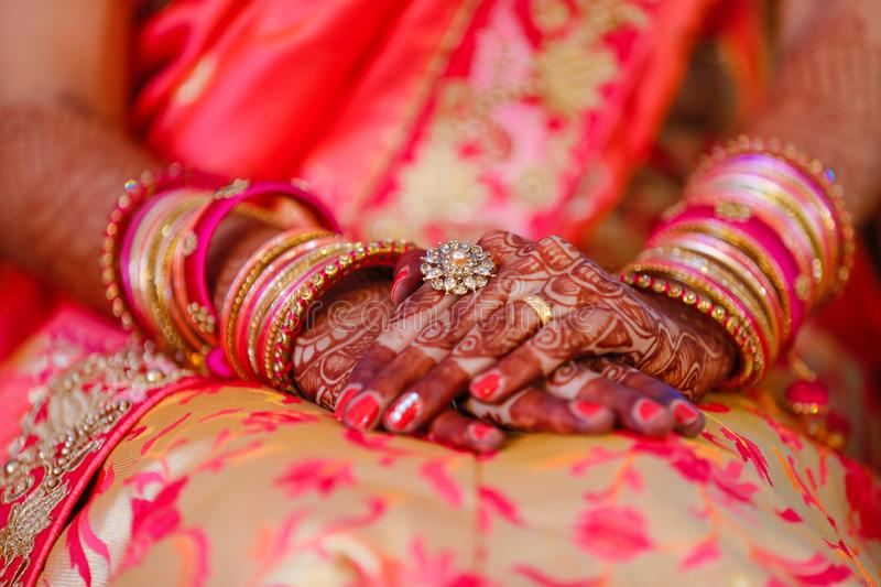 Bangles bride hand royalty free stock images