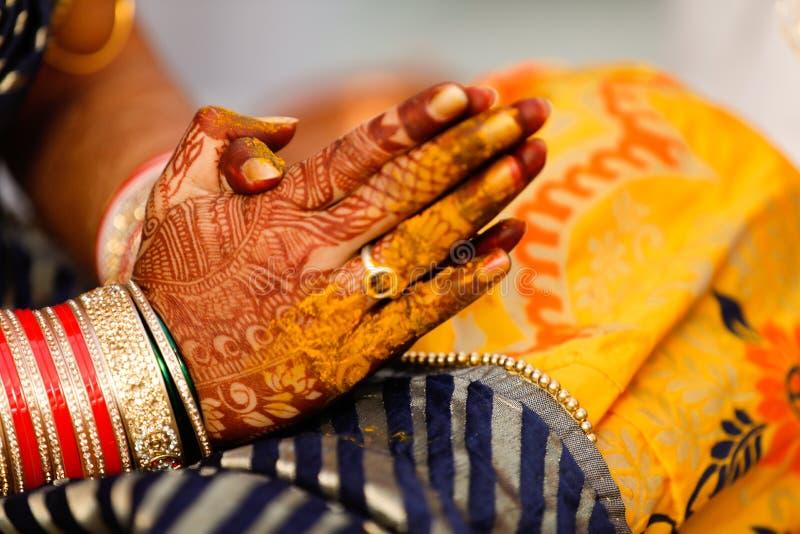 Bangles bride hand stock image