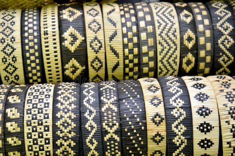 Handicrafts fron Sabah. Bangles from handictwoman from Sabah, Malaysia stock photography
