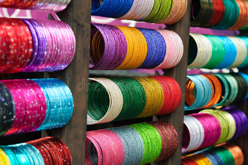 Bangles for Sale in India stock photos
