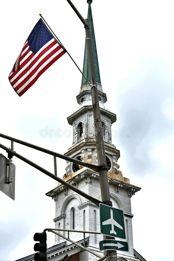 Bangor city state maine us historic architecture. There is historic places of  Bangor city of Maine state  of US . Starting from 1834 as new port of  America and stock photography
