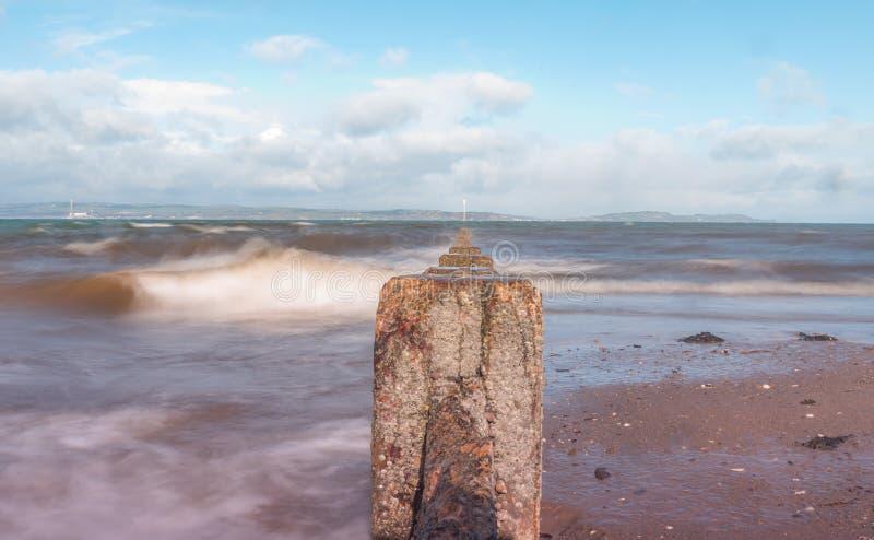 Bangor co abaixo do beira-mar foto de stock