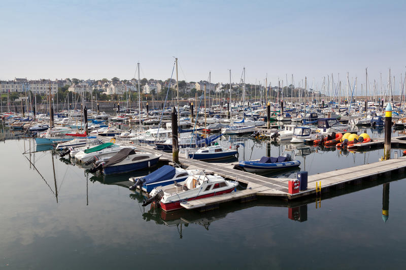 Bangor marina, Northern Ireland. Bangor Marina is the second largest marina in Ireland and is situated on the southern shores of Belfast Lough close to the Irish stock photos