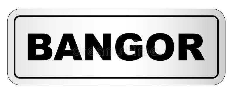 Bangor stadsID-Märke stock illustrationer