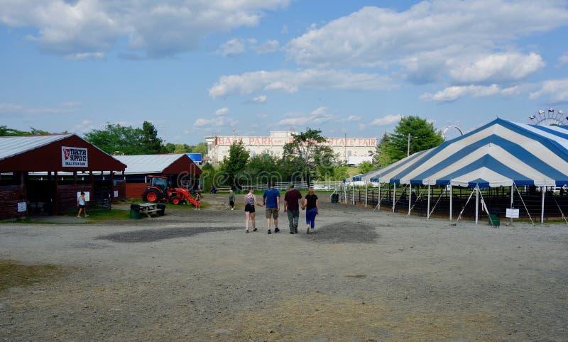 Bangor stanu Uczciwy rolniczy budynek i namiot, Maine, Sierpień 2, 2019, Maine, usa zdjęcie royalty free