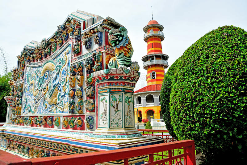 Bangpa-In Royal Palace. Bang Pa-In Royal Palace, also known as the Summer Palace, is a palace complex formerly used by the Thai kings. It lies beside the Chao royalty free stock photography