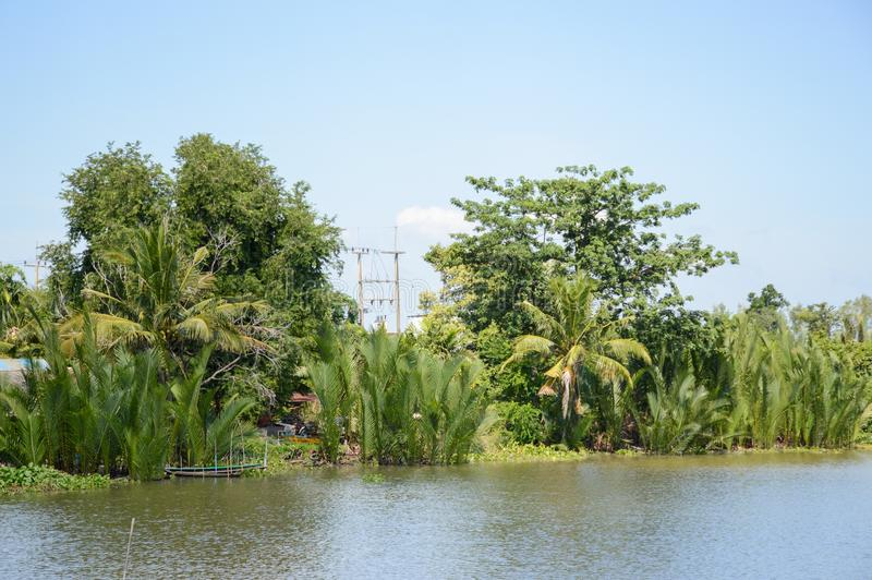 Bangprakong rivier in chachoengsao thailand stock fotografie