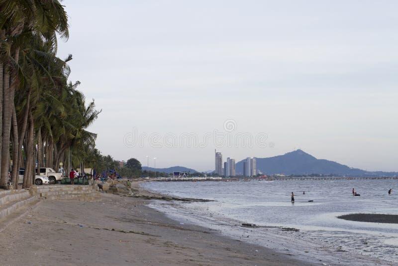 Bangsaen beach stock image