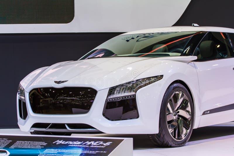 Banguecoque - 1º de dezembro: Possibil novo de pensamento novo do conceito de Hyundai foto de stock
