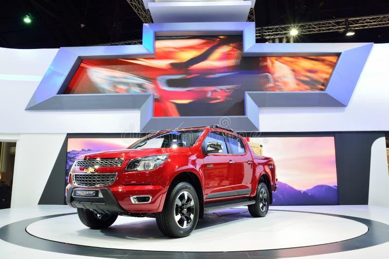 BANGUECOQUE - 26 de março: País alto novo de Chevrolet Colorado, pi 4WD foto de stock