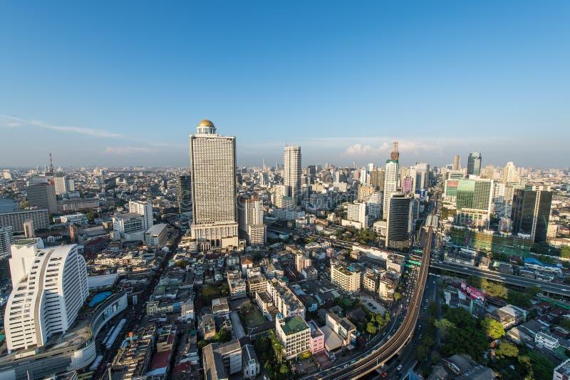 BANGUECOQUE, o 21 de fevereiro: Opinião de Banguecoque o 21 de fevereiro de 2015, Bangko foto de stock royalty free