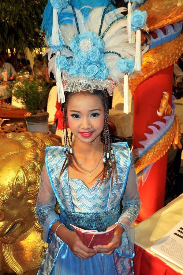 Banguecoque, Tailândia: Comemorando o ano novo chinês fotografia de stock